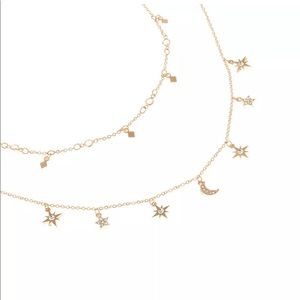 Accessories - New!!! Gorgeous gold starry night ✨necklace🌙✨